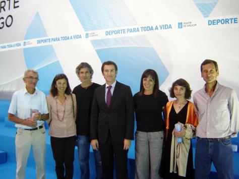 Luis Rosales, Chus Sanguos, Luis Nogueira, Nuñez Feijoo, Emilia Mesa, Soledad Castro y Otero.