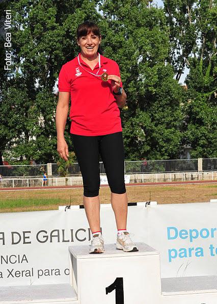 Podium Emilia Mesa Campeonato Gallego Veteranos 2011