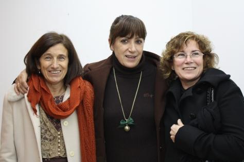 Con Chus Sanguos y Ana Santos Solla en el ágape posterior.