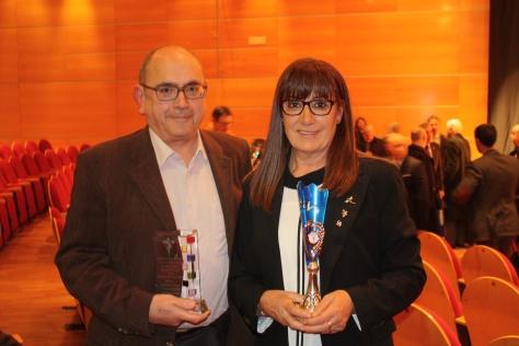 Con José María y nuestros respectivos galardones.