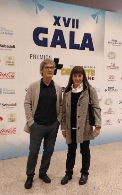 Emilia Mesa y Luis Nogueira en la Gala +Deporte La Region
